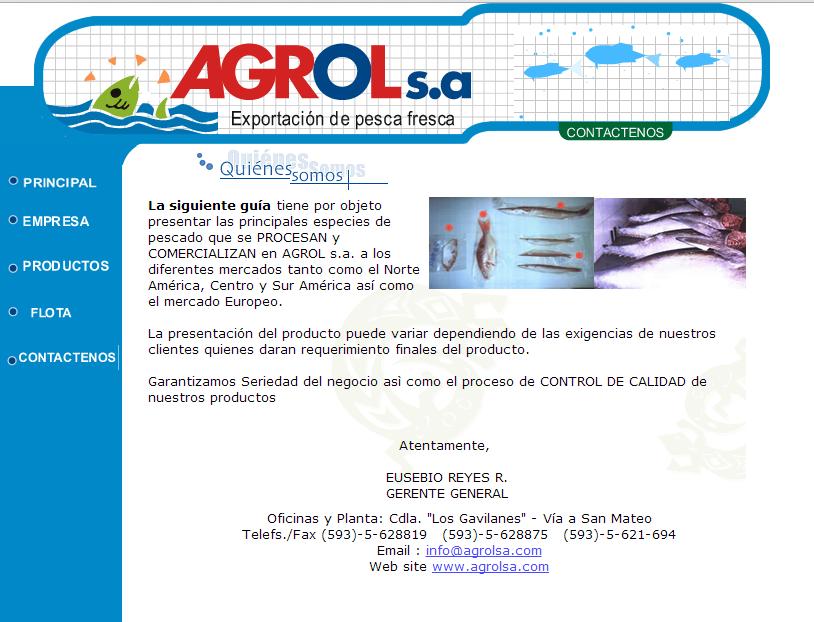 diseño web - agrol
