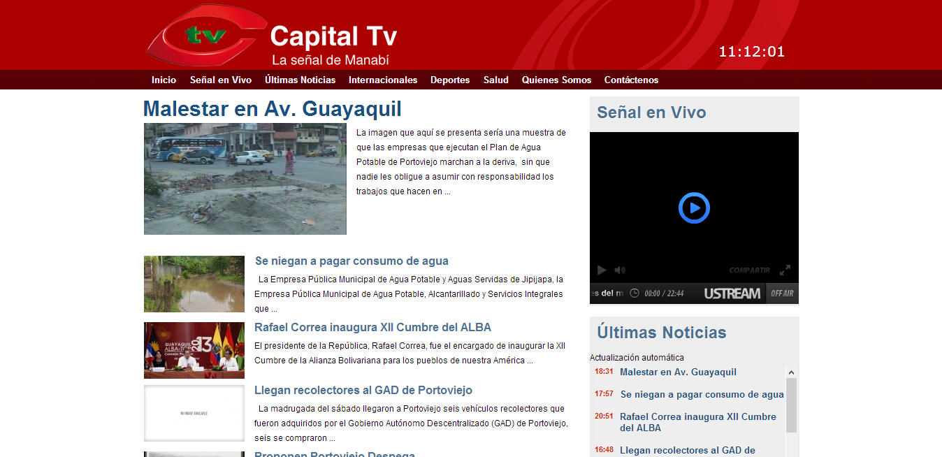 diseño web - capital television
