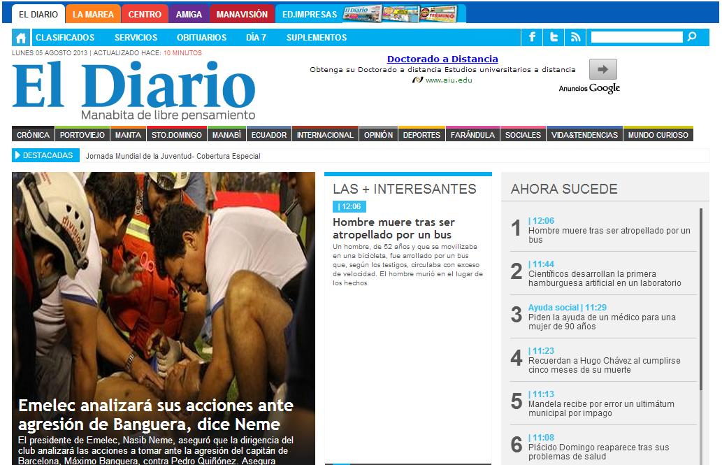 diseño web - el diario