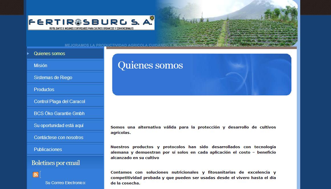 diseño web - fertirosburg