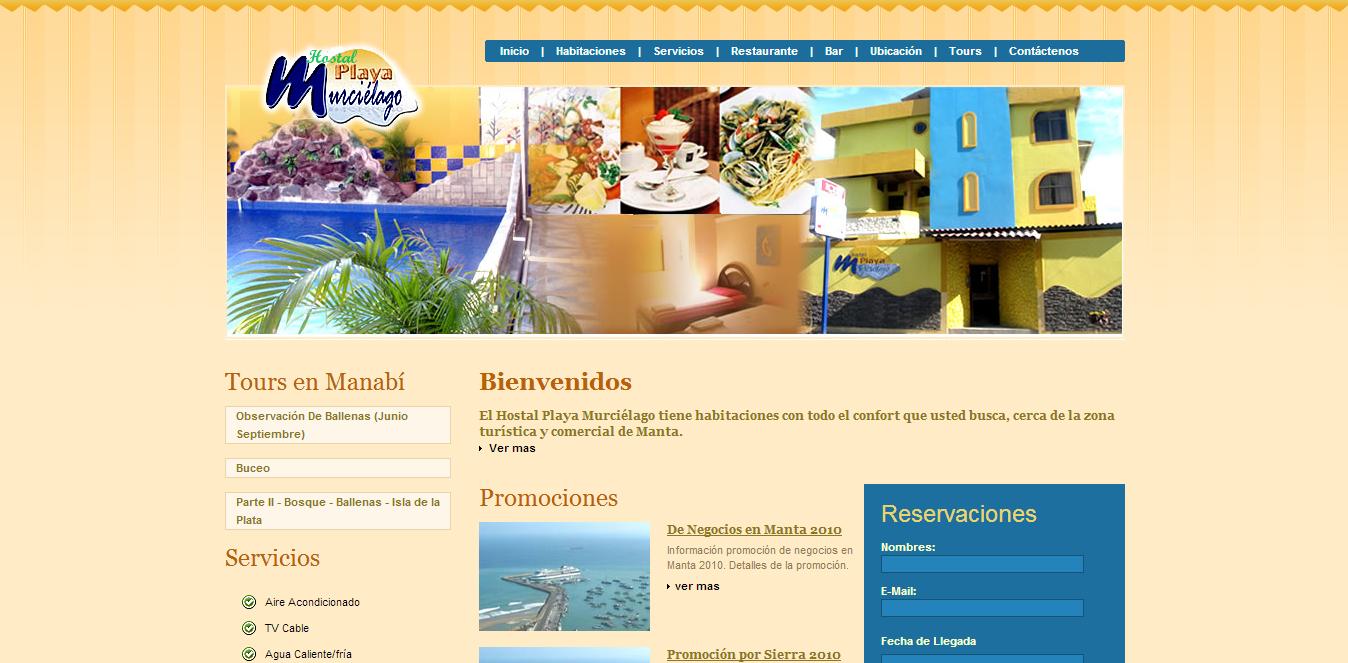 diseño web - hotel murcielago