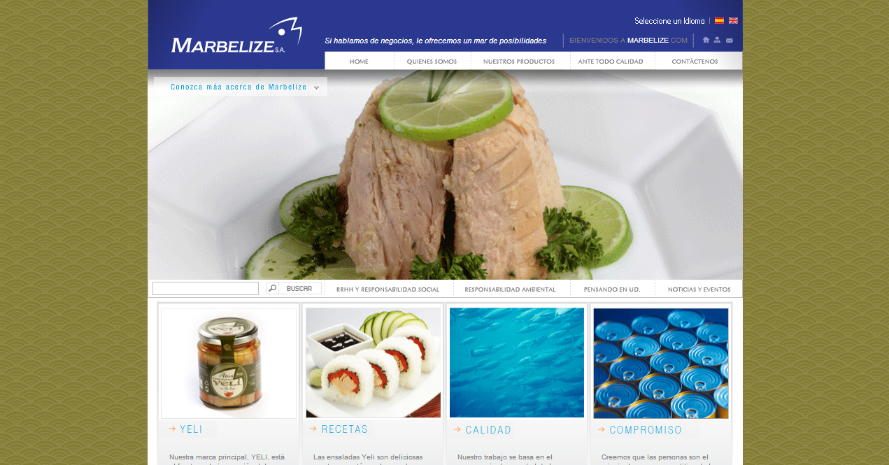 diseño web - marbelize