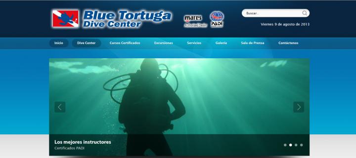 Diseño Web de Blue Tortuga Dive Center