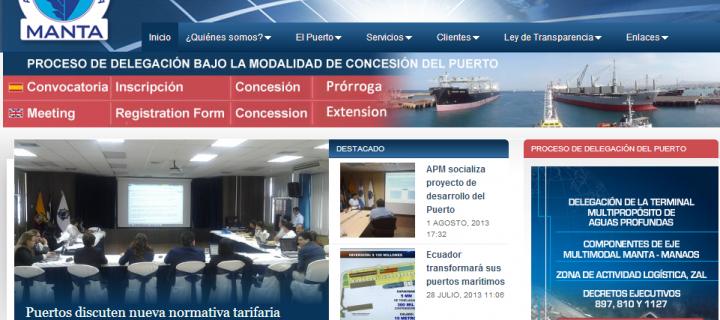 Puerto de Manta -Diseño Web