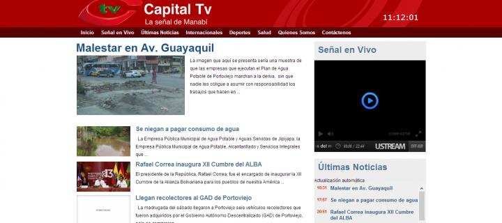 Diseño y Desarrollo Web de Capital Televisión