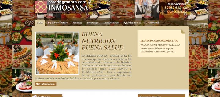Diseño y Desarrollo Web de INMOSANSA – Buena Nutrición, Buena Salud