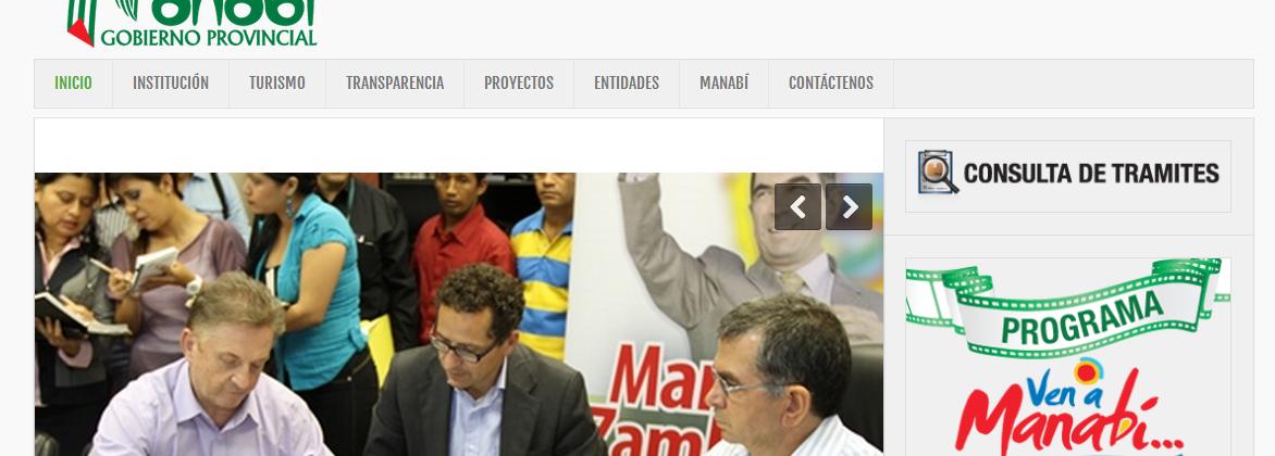 Consejo Provincial de Manabí – Diseño y Desarrollo Web