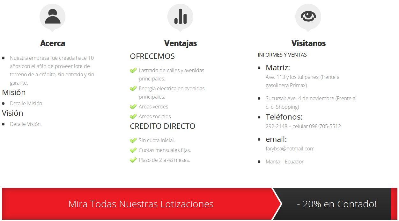 Diseño Web Ecuador Faryb
